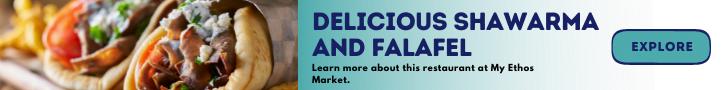 Delicious Shawarma and Falafel Banner